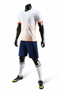 Junior Football Kit - Shaded White and Orange.