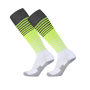 Socks Adult - White with black and yellow trim