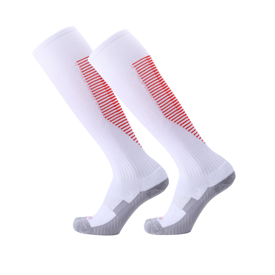 Socks Junior and Adult - White with Red trim