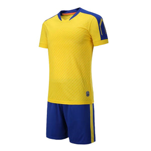 Junior Football Kit - Brazil - Shaded Yellow and blue trim