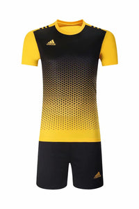 Adidas Full Football Kit Adult Sizes only - 2 tone Yellow and black
