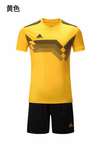 Adidas Full Football Kit Adult Sizes only - Yellow with Black stripe