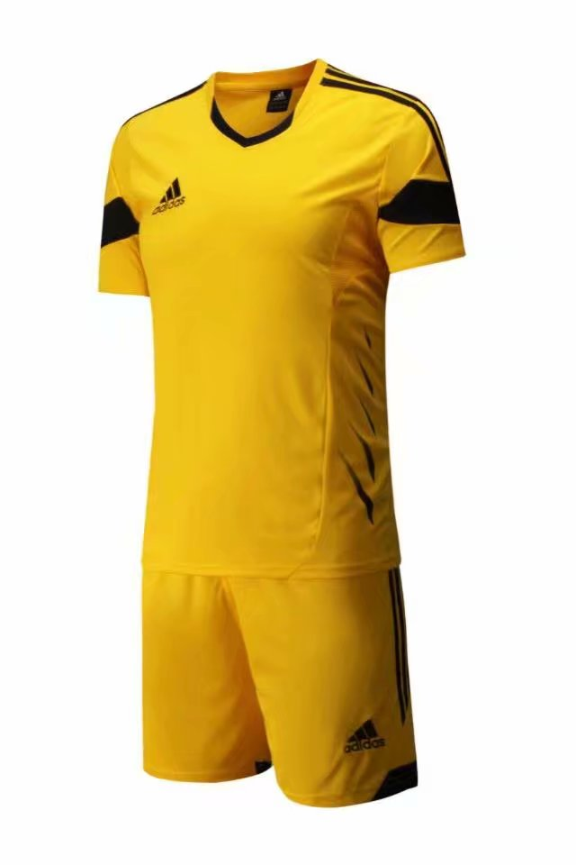 Adidas Full Football Kit Adult Sizes only - Plain Yellow