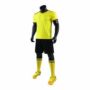 Junior Football Kit - Yellow and Black/Red Trim.