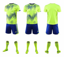 Load image into Gallery viewer, Adidas Full Football Kit Adult Sizes only - 2 tone yellow and blue.