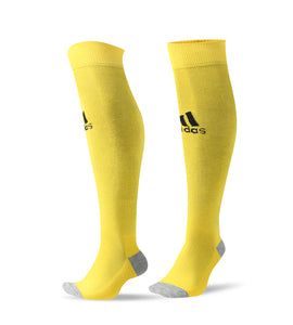Socks Adult - Adidas Yellow with Black logo