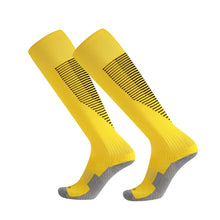 Load image into Gallery viewer, Socks Junior and Adult - Yellow with Black lines