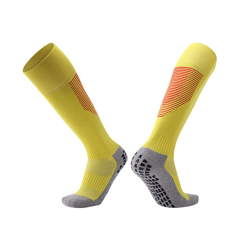 Socks Adult - Yellow with red trim