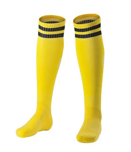 Socks Junior and Adult - Yellow with two black lines