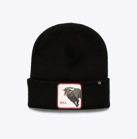 """Knit Hat Big Bull"" - Beanie Wintermütze - black"