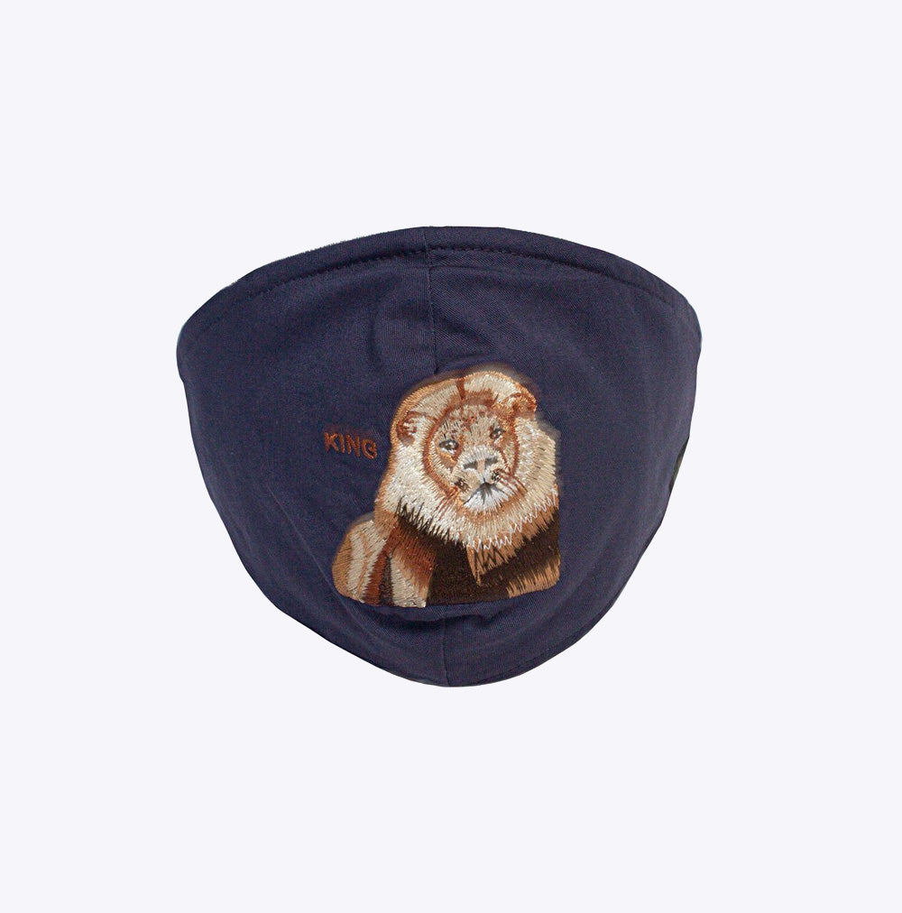 """Mane Cat"" - Mask - navy"
