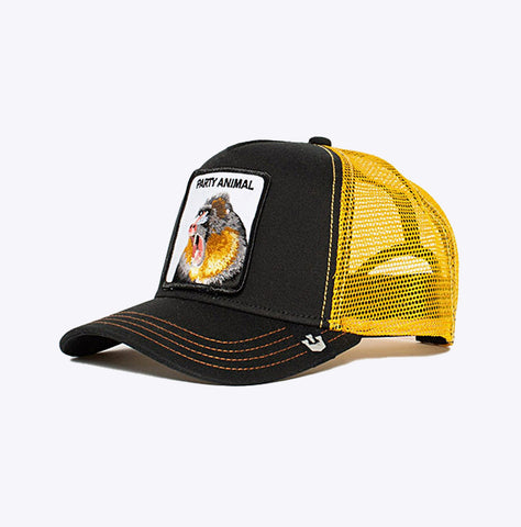 """Baseball Cap Party Animal"" - 5 Panel Trucker - black"