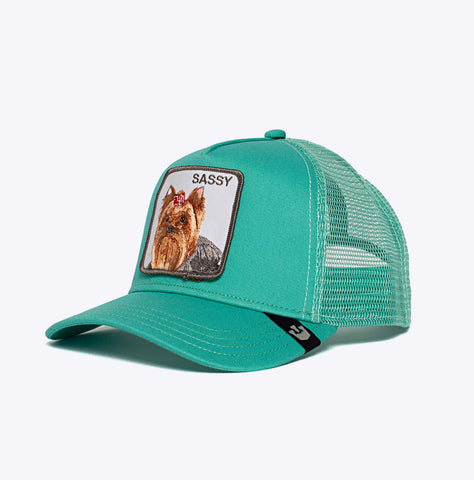 """Baseball Cap Sassy Lady"" - 5 Panel Trucker - green"