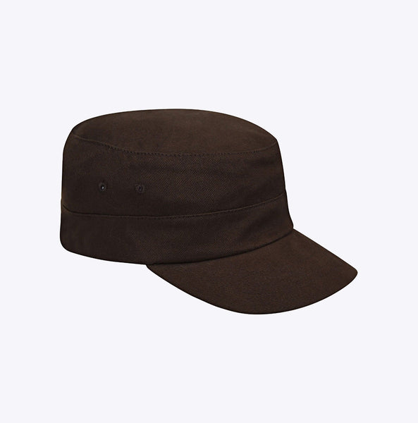 """Cotton Twill Army Cap"" - brown"