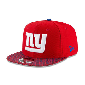 new era 9fifty snapback cap, new york giants, für kinder, flat visor (mit flachem schild), kids größe, rot