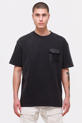 """PGDR Ghosttown Utility Tee"" Oversized T-Shirt -  washed black"
