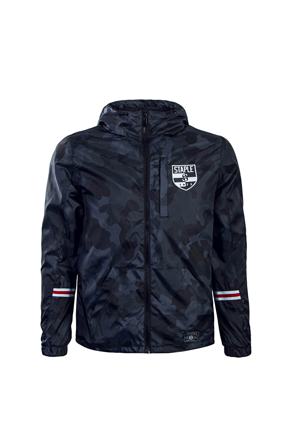 """Staple Pigeon Nylon Windbreaker"" - black/navy"