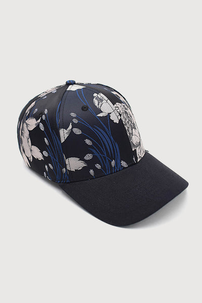 """Curved Adrian"" - 6 Panel Round Visor Cap  - multi/black"