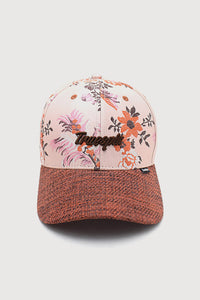 """L´Orange"" - Floral Jacquard Womens Cap  - multi/orange"