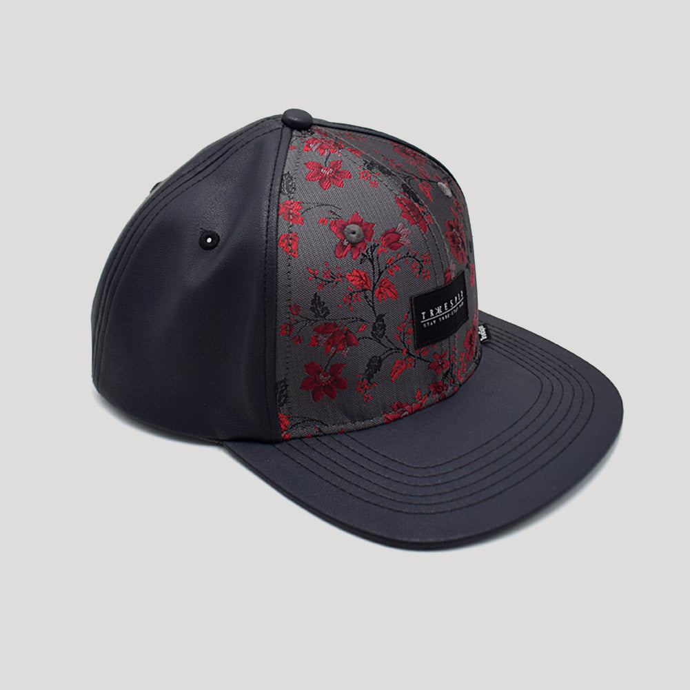 """Flat Phil"" - 6 Panel Snapback Cap  - multi/grau"