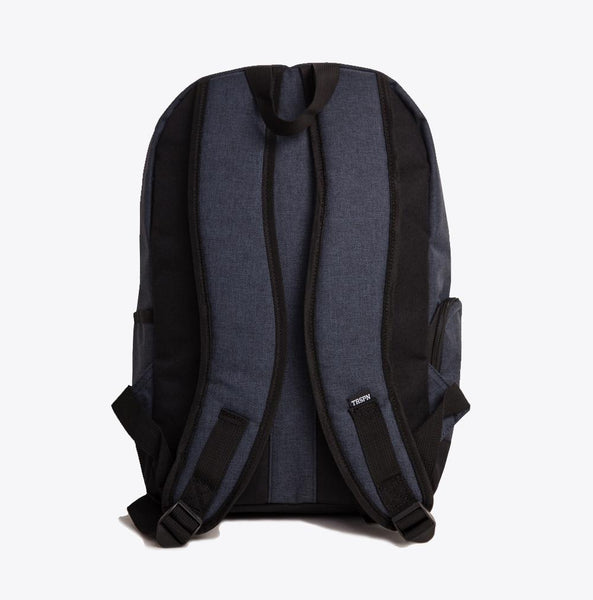 truespin classic backpack, color black, back view