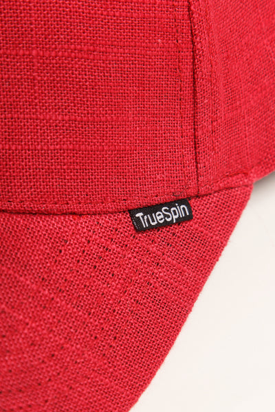 """Light"" - 6 Panel Curved Visor Cap - rot"