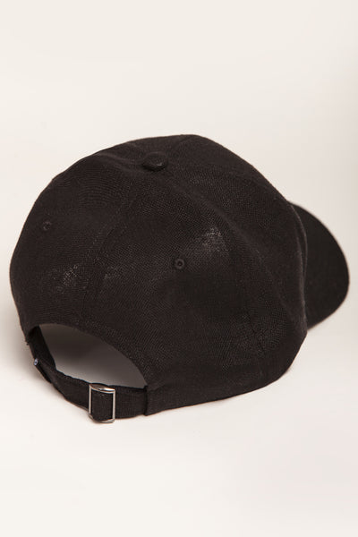 """Light"" (19) - 6 Panel Curved Visor Cap - schwarz"