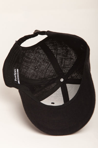 """Light"" (20) - 6 Panel Curved Visor Cap - schwarz"