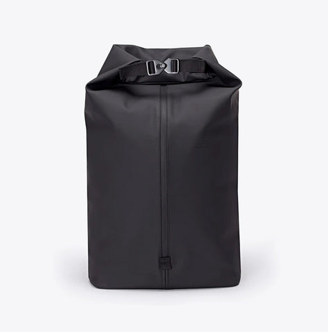 """Frederik"" Roll Top Rucksack - Lotus Series - black"