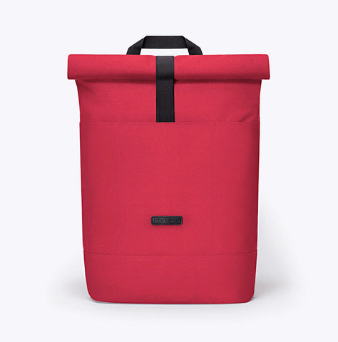 """Hajo"" Roll Top Rucksack - Stealth Series - red"