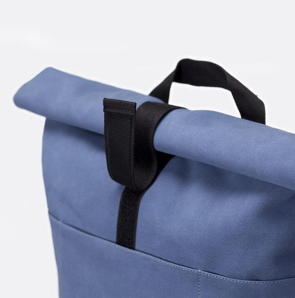 """Hajo"" Roll Top Rucksack - Suede Series - blau"