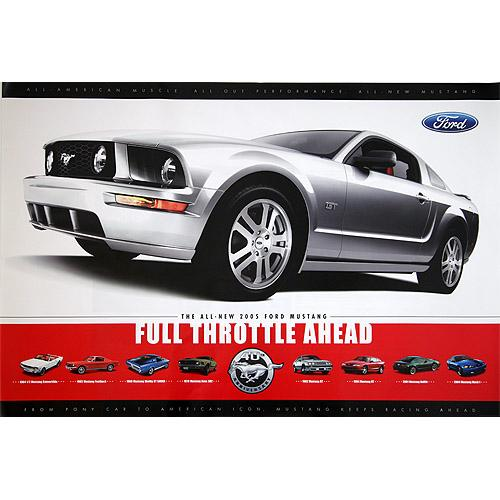 2005 Mustang GT Full Throttle Poster
