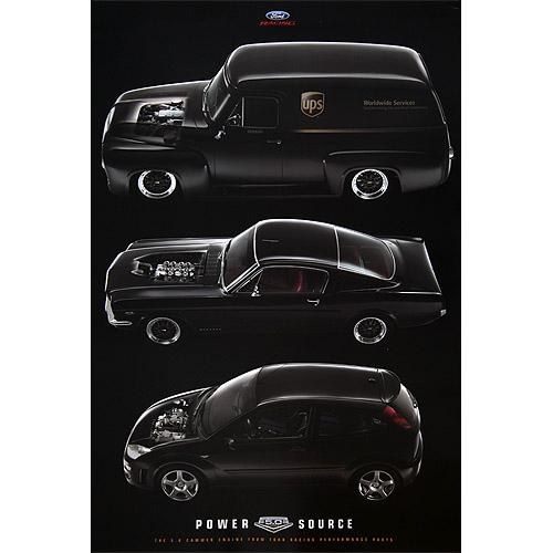 Ford Racing 5.0 Cammer Poster