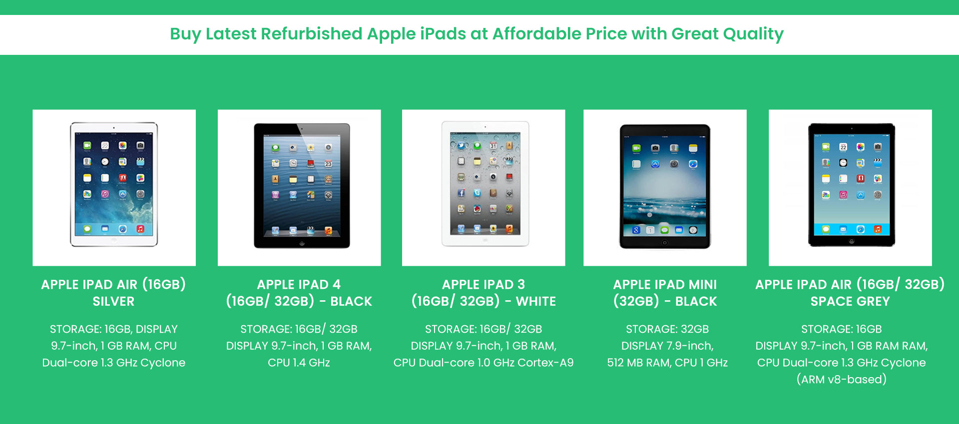 Cheap Refurbished iPads for Sale - No Place Better than Loop8