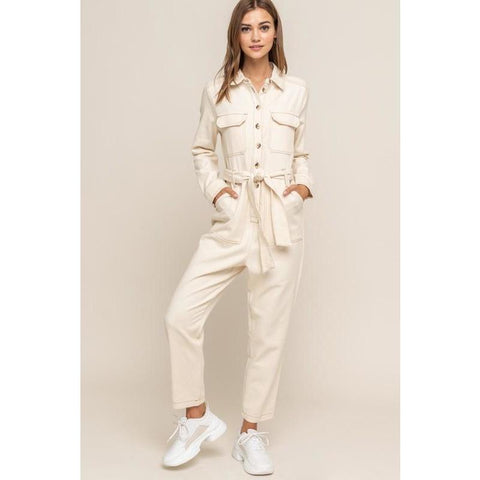 Milk Tea Jumpsuit