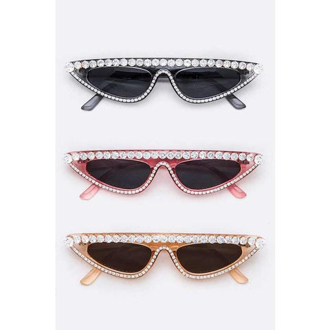 Crystal Cut Sunglasses