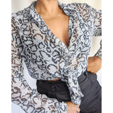2 Piece Abstract Snakeskin Top