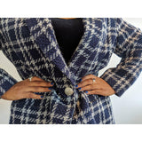 Vintage Breckenridge Navy Plaid Jacket