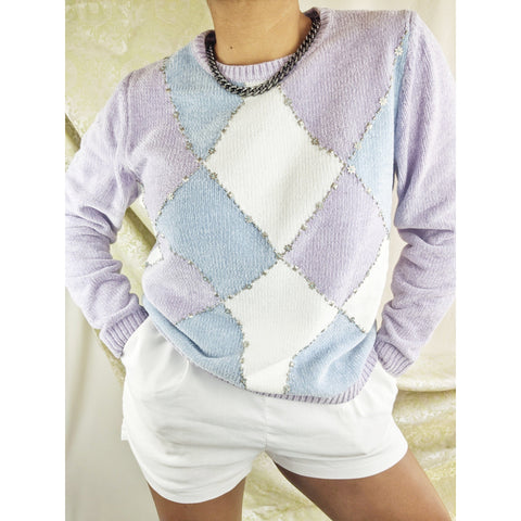 80's Plush Diamond Sweater