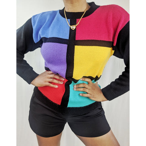 1980's Colorblock Sweater