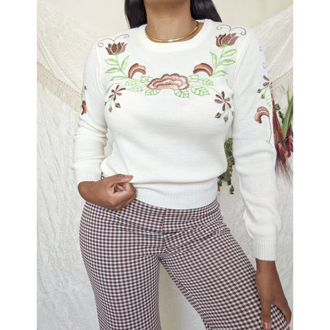 1970's Embroidered Sweater