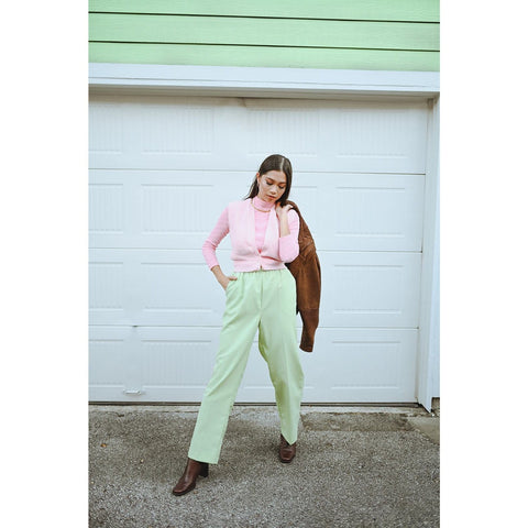 1980's High Waist Ankle Pants