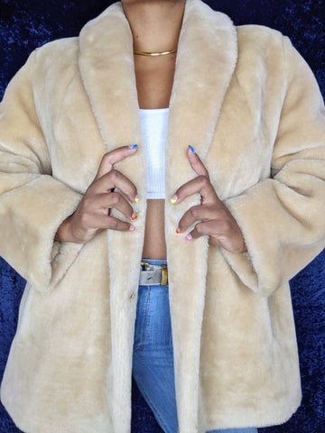 1990's Faux Fur Coat