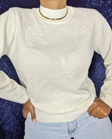 1990's Beaded Sparkle Sweater