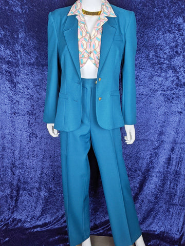 1970's Sears 2 Piece Suit Teal