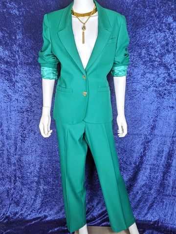 1970's Sears 2 Piece Suit Emerald