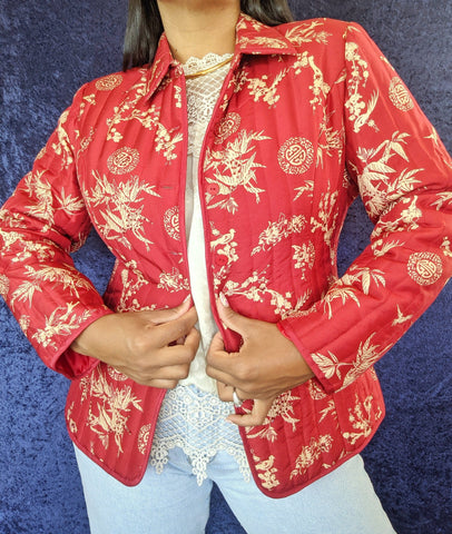 1990's Silk Quilted Jacket