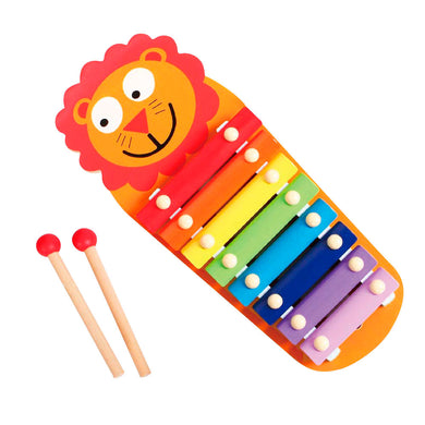 Wooden Lion Xylophone, Wooden Educational Toy