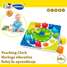 Load image into Gallery viewer, Wooden Teaching Clock, Wooden Educational Toy
