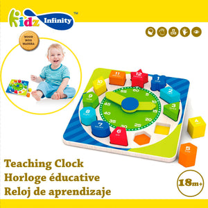 Wooden Teaching Clock, Wooden Educational Toy